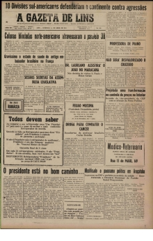 A Gazeta de Lins - 1951 - Abril